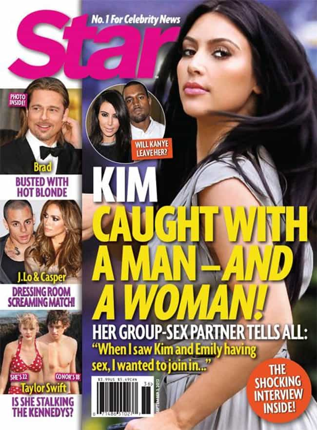 Kim Kardashian is listed (or ranked) 4 on the list Celebrities Who Have Had Threesomes