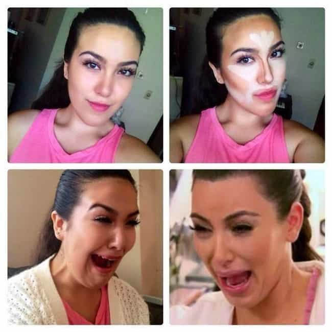 Kim Kardashian is listed (or ranked) 2 on the list 60+ Unbelievable #MakeupTransformations
