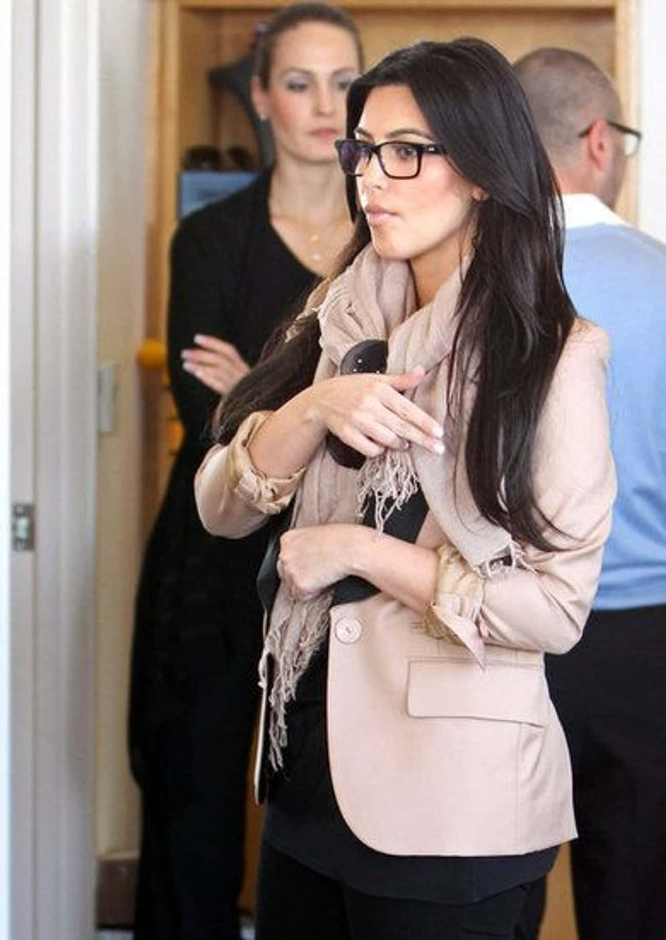 Kim Kardashian is listed (or ranked) 4 on the list 35 Celebrities with Glasses