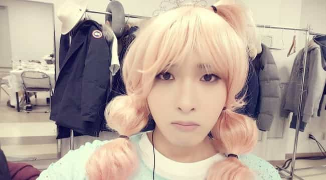Kim Ryeowook is listed (or ranked) 1 on the list Male Kpop Idols Dressed Like Girls