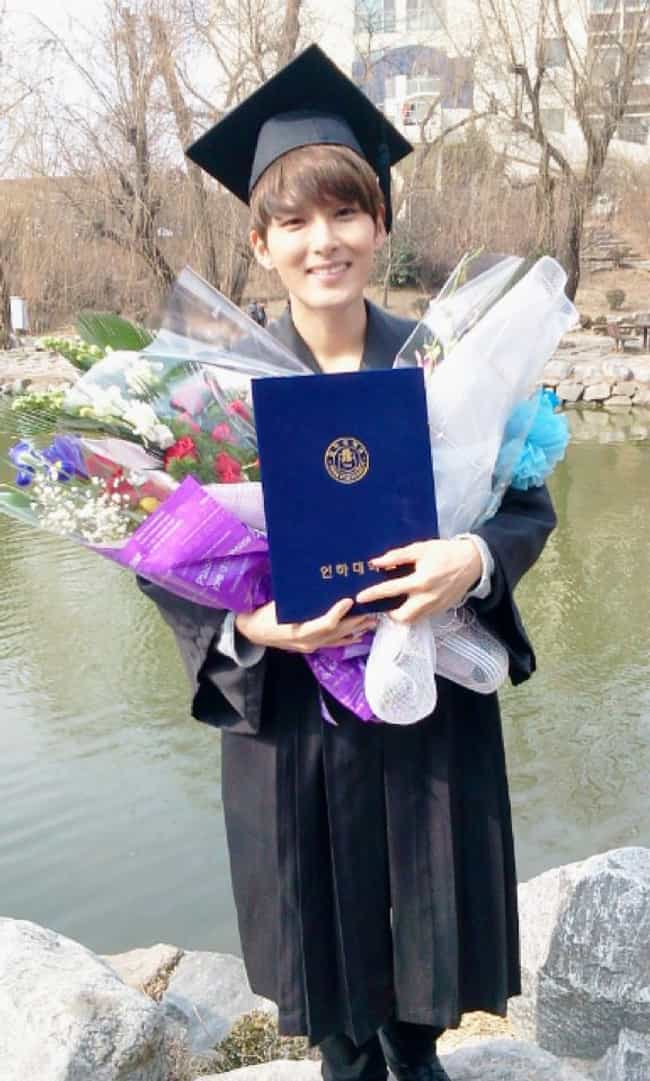 Kim Ryeowook is listed (or ranked) 1 on the list College Graduate Kpop Idols