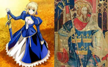 Saber Is King Arthur is listed (or ranked) 1 on the list Historical Figures Who Show Up In The Fate Series