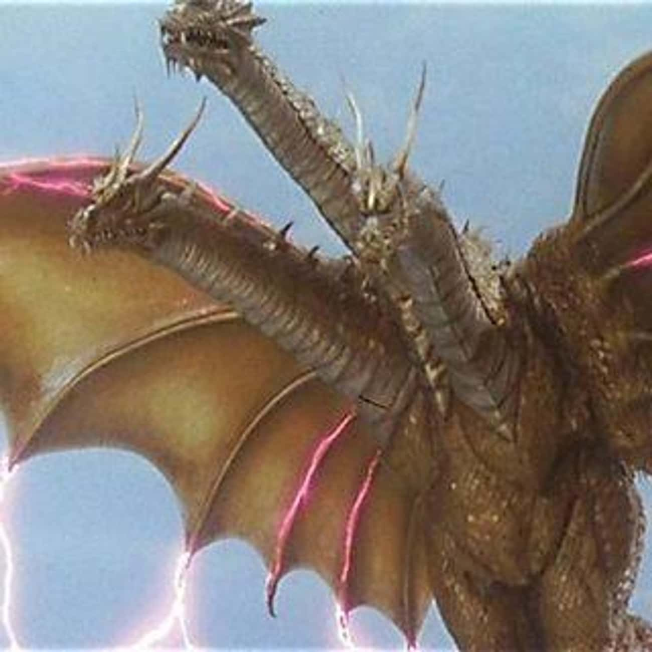King Ghidorah is listed (or ranked) 1 on the list The Best Monsters From The 'Godzilla' Movies