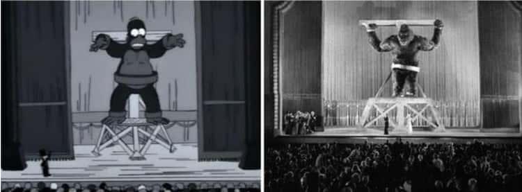 'King Homer' Mirrors 'King Kong'