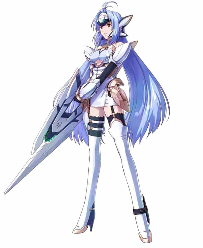 KOS-MOS is listed (or ranked) 4 on the list The Best Video Game Characters with Blue Hair