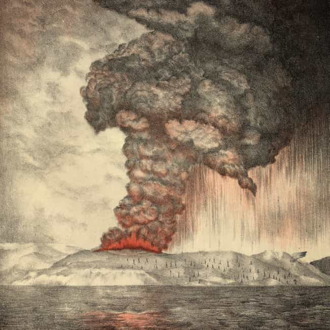 Krakatoa is listed (or ranked) 2 on the list The Worst Volcanic Eruptions in History
