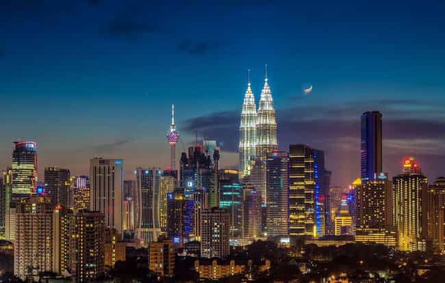 Kuala Lumpur is listed (or ranked) 3 on the list The Most Beautiful Skylines in the World
