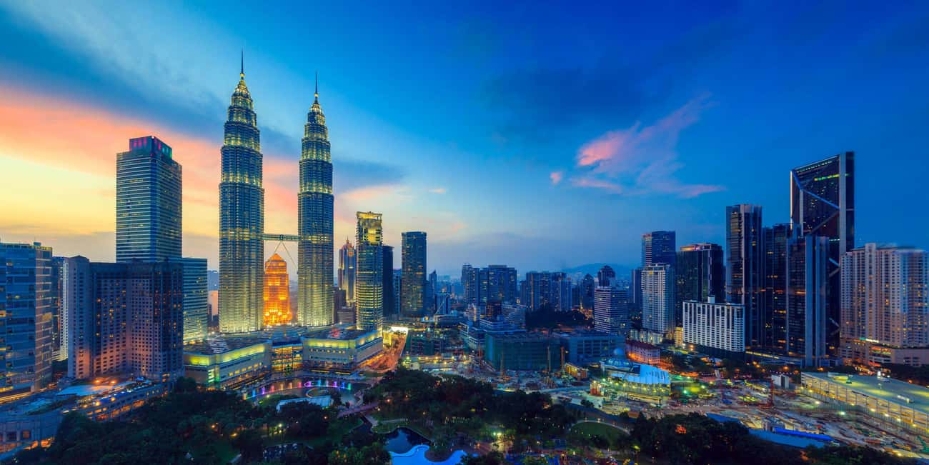 Kuala Lumpur is listed (or ranked) 2 on the list The Most Beautiful Skylines in the World