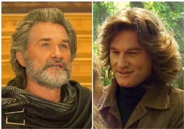 Kurt Russell In 'Guardians is listed (or ranked) 1 on the list Actors And Actresses Who Look Crazy Young In Movies And TV Thanks To CGI