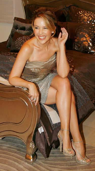 Kylie Minogue is listed (or ranked) 6 on the list Which Celeb Has The Most Beautiful Legs?