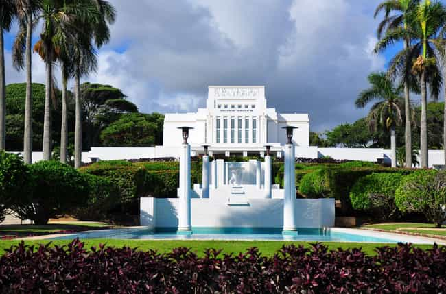 Laie Hawaii Temple is listed (or ranked) 4 on the list The Most Beautiful Mormon Temples