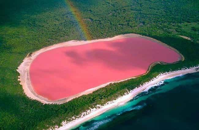 Lake Hillier is listed (or ranked) 4 on the list These Brightly Colored Bodies Of Water Look Like They're From A Seussian Dreamscape