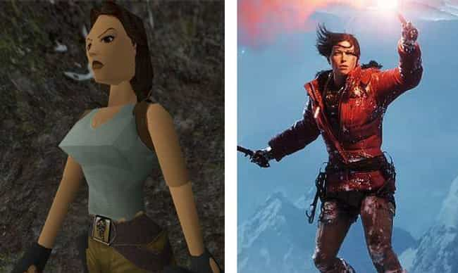 Lara Croft is listed (or ranked) 3 on the list The Evolution Of Your Favorite Video Game Characters Over Time