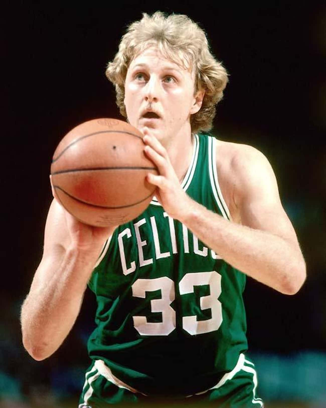 Larry Bird is listed (or ranked) 4 on the list Athletes Who Are Definitely Introverts