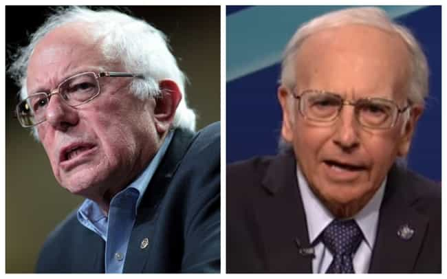 Larry David is listed (or ranked) 2 on the list 21 Real Politicians Vs Their 'SNL' Impressions