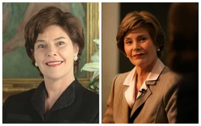 Laura Bush is listed (or ranked) 2 on the list Pictures Of The First Ladies At The Beginning And End Of Their Tenures In The White House