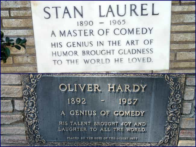 Laurel and Hardy is listed (or ranked) 4 on the list The Best Celebrity Tombstones