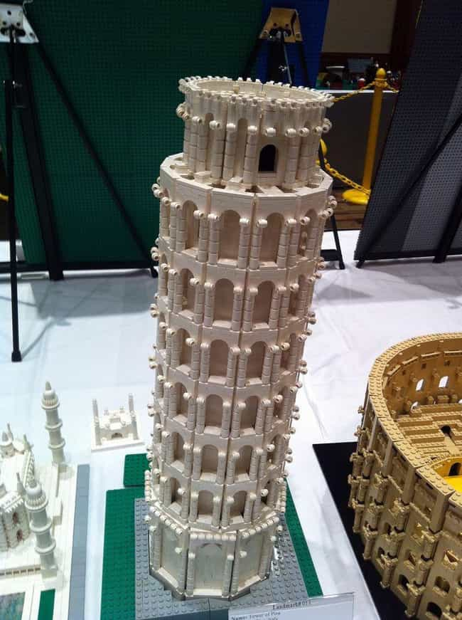 Leaning Tower of Pisa is listed (or ranked) 3 on the list 31 Amazing LEGO Versions of Famous Monuments