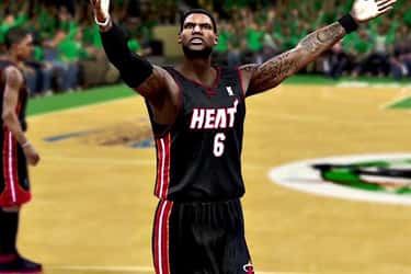 LeBron James is listed (or ranked) 2 on the list The Top NBA 2K13 Players