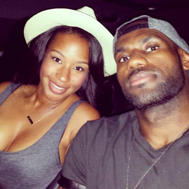 LeBron James is listed (or ranked) 4 on the list 10 Celebrity Couples Who Went To Prom Together