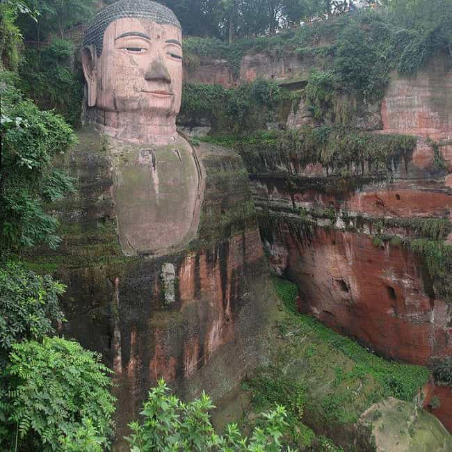Leshan Giant Buddha is listed (or ranked) 1 on the list Cool Things Carved Into Mountains & Cliffs Around the World