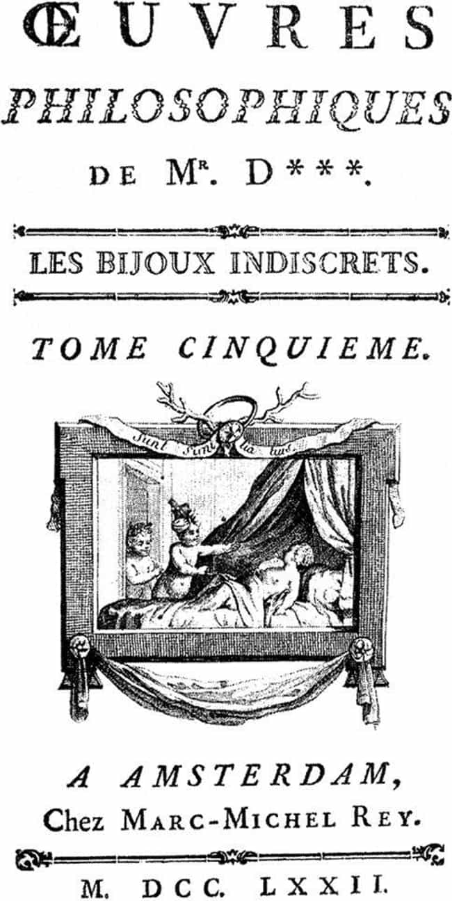 The Indiscreet Jewels is listed (or ranked) 4 on the list 18th-Century Erotic Novels Way Dirtier Than 'Fifty Shades Of Grey'