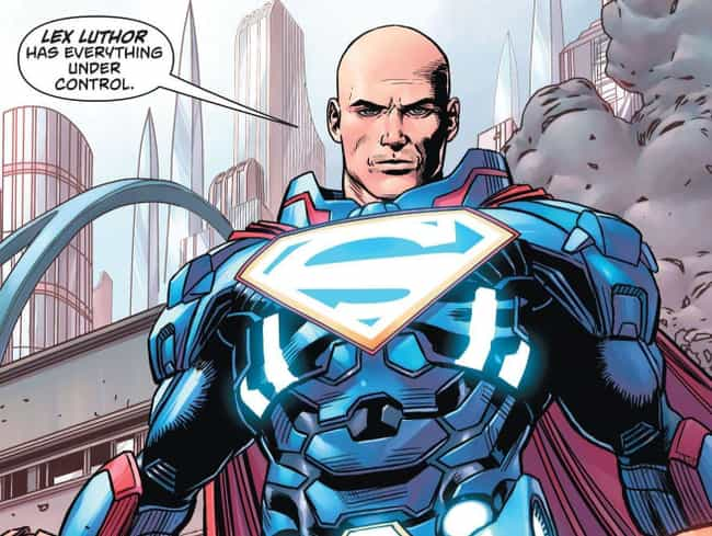 Lex Luthor is listed (or ranked) 4 on the list 12 Very Weird Times The Villains Subbed In For Superheroes