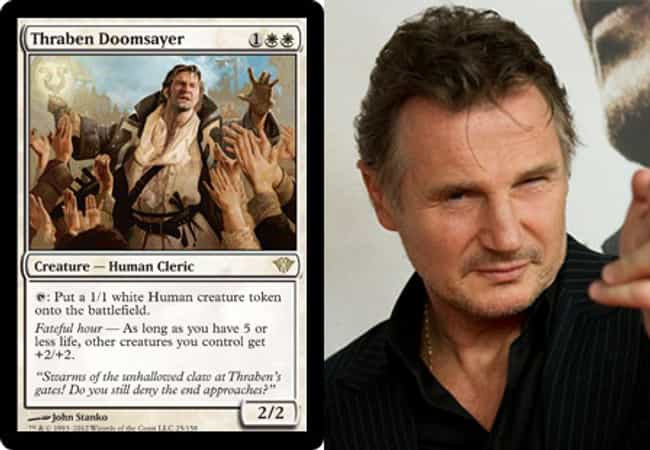 Liam Neeson is listed (or ranked) 2 on the list 23 Magic Cards That Look Like Celebrities