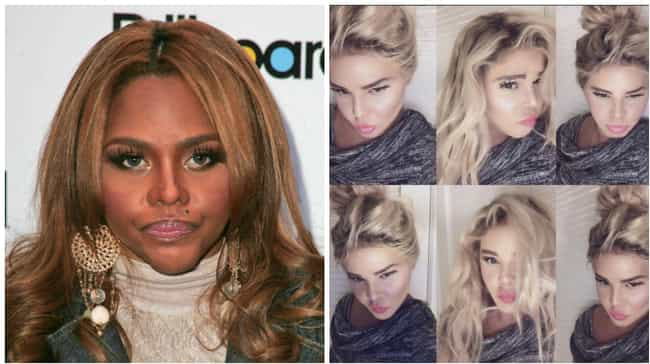 Lil' Kim is listed (or ranked) 1 on the list Celebrities Whose Faces Totally Changed