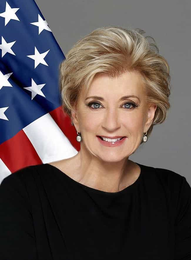 Linda McMahon is listed (or ranked) 57 on the list Everyone Who Has Been Fired Or Resigned From The Trump Administration So Far