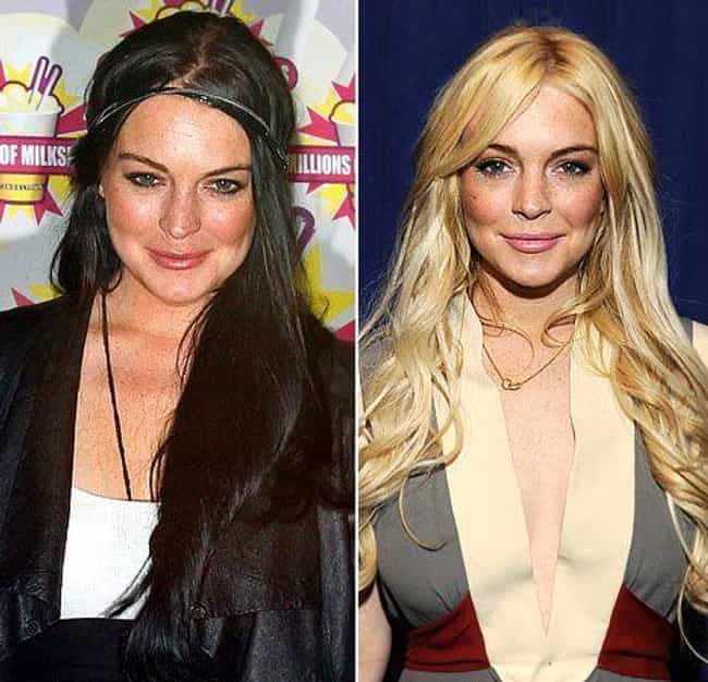 Lindsay Lohan is listed (or ranked) 3 on the list Celebrities Who Dyed Their Hair Blonde
