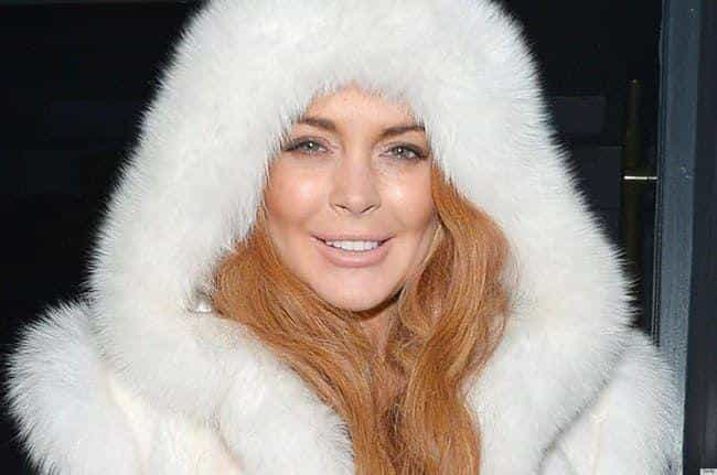 Lindsay Lohan is listed (or ranked) 3 on the list 35+ Celebrities Who Wear Fur