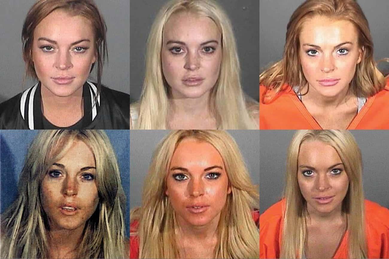 Lindsay Lohan is listed (or ranked) 2 on the list Full List of All Celebrity Mug Shots