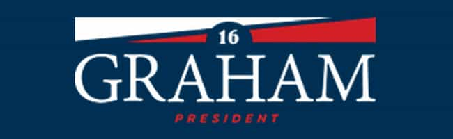Lindsey Graham is listed (or ranked) 4 on the list The Best Logos in the 2016 Presidential Election
