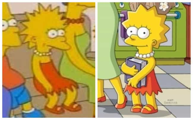Lisa Simpson is listed (or ranked) 4 on the list How The Simpsons Evolved Over Time