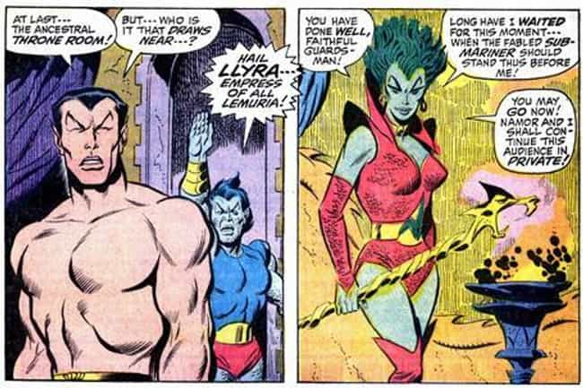 Llyra is listed (or ranked) 4 on the list The Greatest Foes of Namor the Sub Mariner