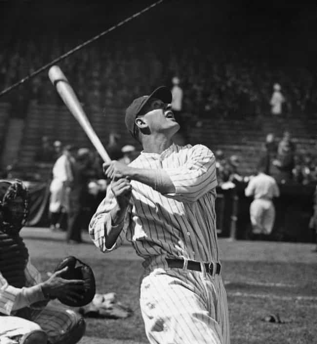 Lou Gehrig is listed (or ranked) 4 on the list The Greatest Baseball Players of All Time