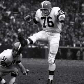 Lou Groza is listed (or ranked) 17 on the list List of Famous Football Placekickers