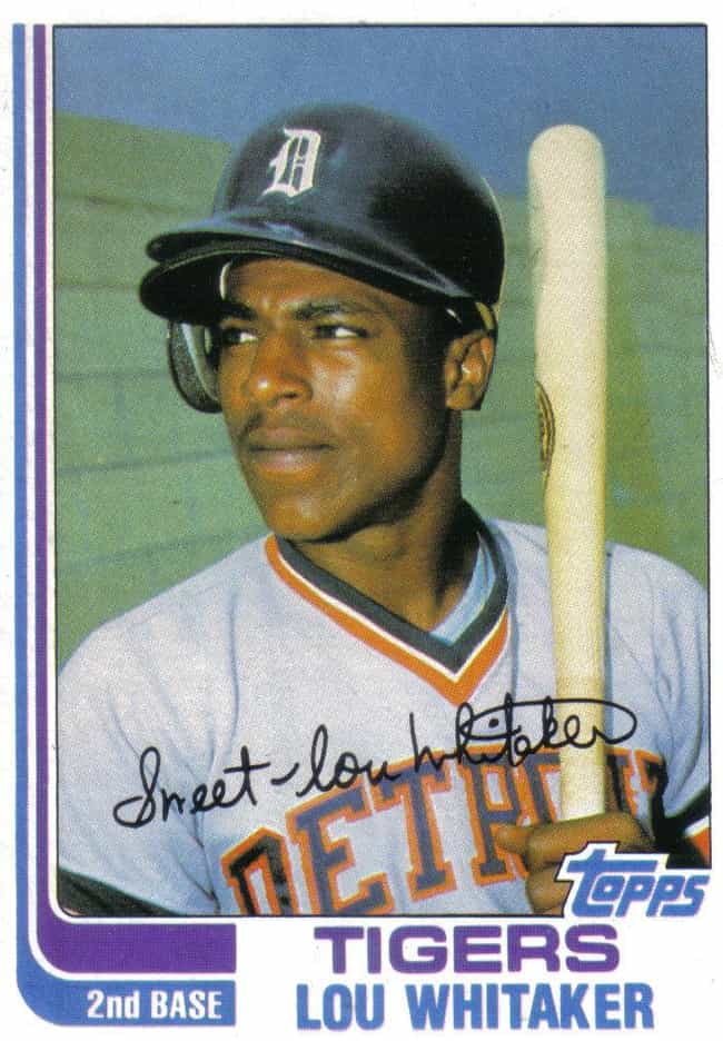Lou Whitaker is listed (or ranked) 4 on the list 11 Athletes Who Are Jehovah's Witnesses