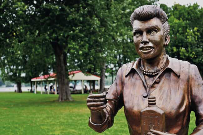 Lucille Ball is listed (or ranked) 4 on the list The Weirdest Statues of Celebrities