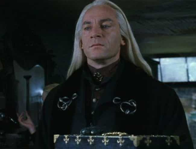 Lucius Malfoy is listed (or ranked) 4 on the list 8 Stars Whose Unpopular Acting Methods Created Hugely Popular Characters