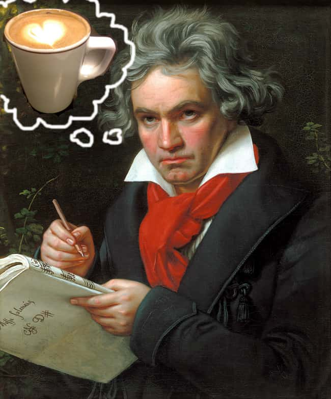 Ludwig van Beethoven is listed (or ranked) 5 on the list 24 Extremely Peculiar Personal Quirks that Historic Musicians Had