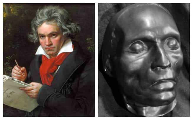 Ludwig van Beethoven is listed (or ranked) 2 on the list 17 Plaster Face Molds Of Famous Historical Figures That Were Made Moments After They Died