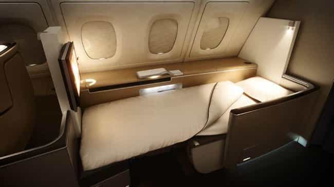 Lufthansa is listed (or ranked) 3 on the list What First Class Looks Like on Different Airlines