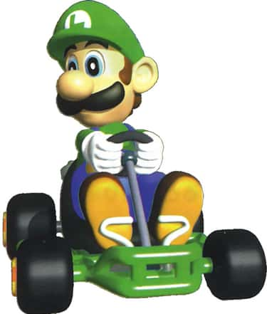 Luigi: Maintains Speed, Good o is listed (or ranked) 2 on the list Special Things Every Mario Kart 64 Character Does Better Than The Others
