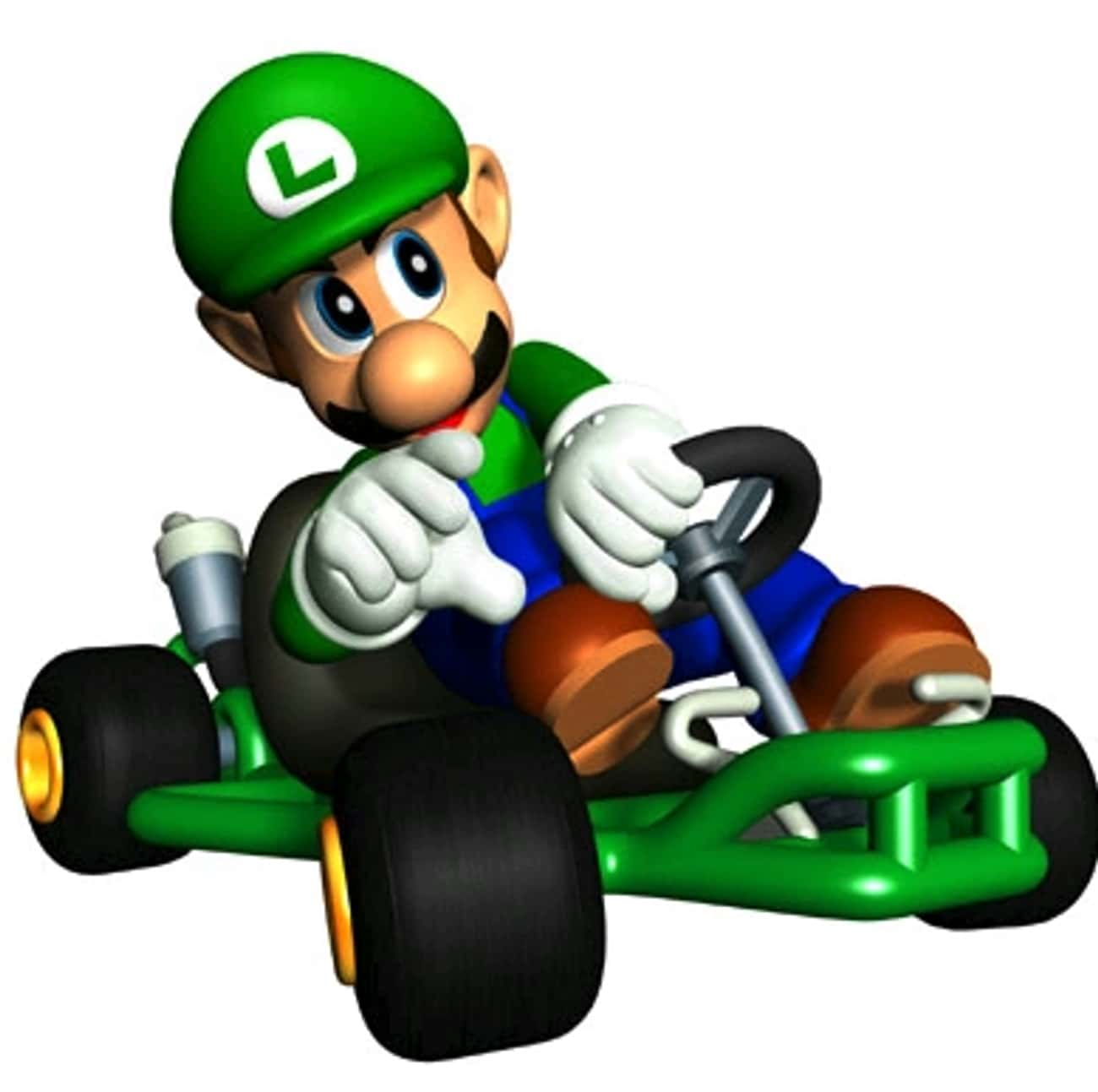Luigi is listed (or ranked) 3 on the list What Your Favorite 'Mario Kart' Character Says About You
