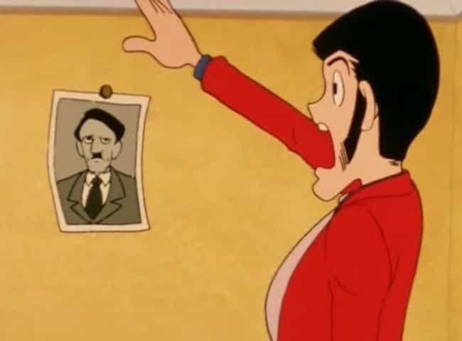 Lupin III is listed (or ranked) 2 on the list 16 Times Hitler Showed Up In Anime