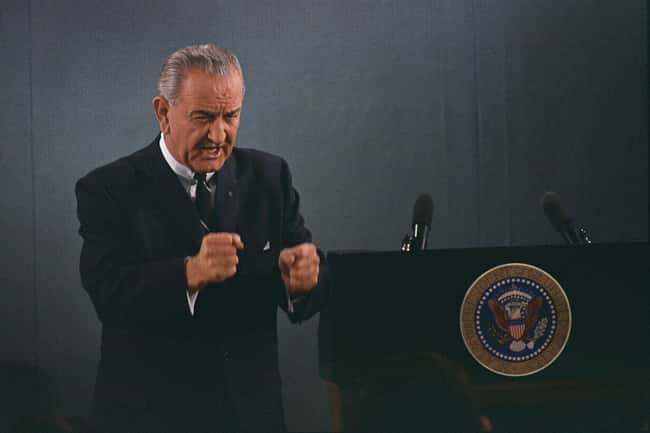 Lyndon B. Johnson is listed (or ranked) 7 on the list Famous Penises That Went Down in History