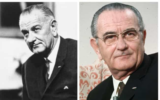 Lyndon B. Johnson is listed (or ranked) 2 on the list How 14 Presidents Looked At The Start And The End Of Their Presidencies