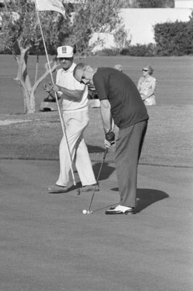 Lyndon B. Johnson is listed (or ranked) 8 on the list All the Golfing Presidents